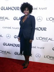 Viola Davis arrives to the 2018 Glamour Women of the Year Awards