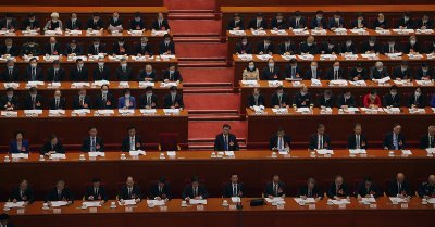 Chinese Leaders and Delegates Attend a NPC Session in Beijing, China