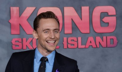 """Tom Hiddleston attends the """"Kong: Skull Island"""" premiere in Los Angeles"""