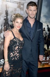 Chris Hemsworth at world premiere of '12 Strong'
