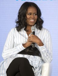 Michelle Obama speaks on nutritian and healthy eating in Washington, D.C.