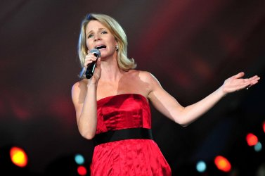 Kelli O'Hara performs during a rehearsal for A Capitol Fourth concert in Washington