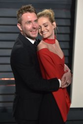 Chris Hardwick and Lydia Hearst arrive for the Vanity Fair Oscar Party in Beverly Hills
