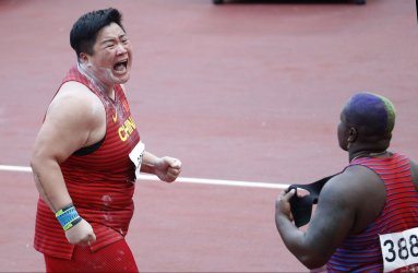 China's Gong Wins Gold in Shot Put at Tokyo Olympics