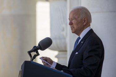 President Biden lays a wreath at Tomb of the Unknown Solider at Arlington National Cemetery