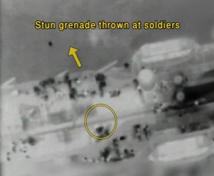 Israeli Navy video shows clashes between Israeli soldiers and activists on board the Turkish aid ship