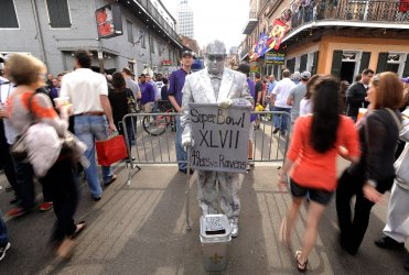 Super Bowl XLVII fans visit French Quarter in New Orleans