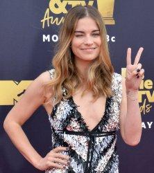 Annie Murphy attends the 2018 MTV Movie & TV Awards in Santa Monica, California