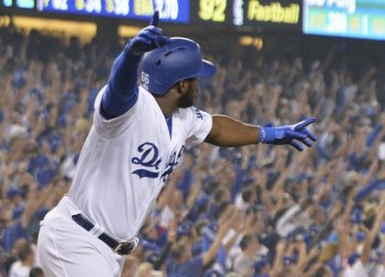 Dodgers Puig hits three-run homer during the sixth inning in Game 4 of the World Series
