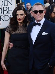 Daniel Craig and Rachel Weisz attend the 70th annual Golden Globe Awards in Beverly Hills, California