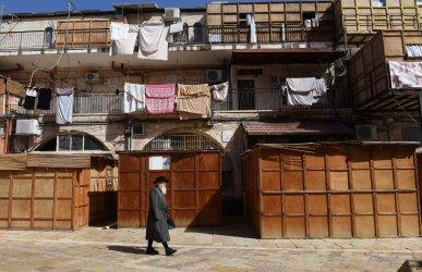 Ultra-Orthodox Jews Prepare For Sukkot in Jerusalem