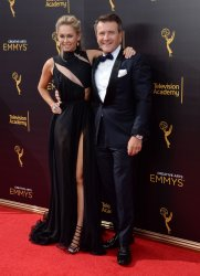 Kym Johnson and Robert Herjavec attend the Creative Arts Emmy Awards in Los Angeles