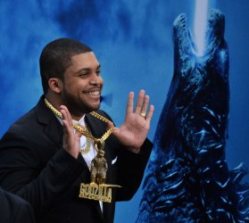 "O'Shea Jackson Jr. attends the ""Godzilla: King of the Monsters' premiere in Los Angeles"