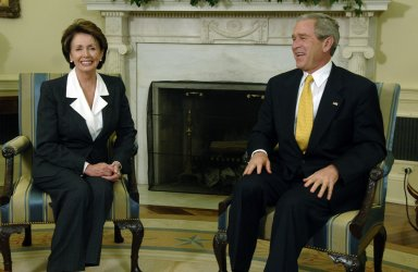 PRESIDENT BUSH MEETS WITH HOUSE LEADER ELECT PELOSI