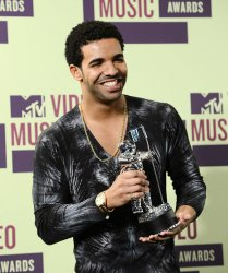 Drake backstage at the 2012 MTV Video Music Awards in Los Angeles