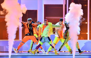 CNCO performs at the Billboard Latin Music Awards in Las Vegas
