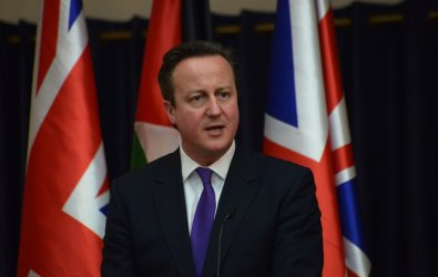 Palestinian President Mahmoud Abbas And British Prime Minister David Cameron, Press Conference,Bethlehem, West Bank