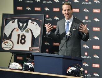 Denver Broncos quarterback Peyton Manning announces his retirement after 18 seasons in the NFL