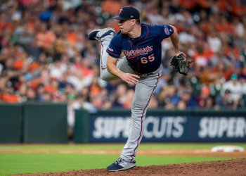 Twins relief pitcher Trevor May