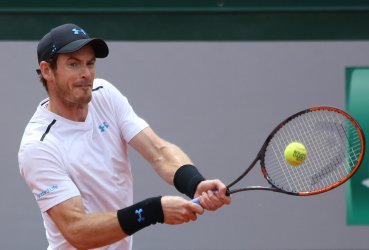 Andy Murray plays his third round match at the French Open