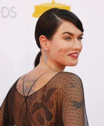 Lena Headey attends the 64th Primetime Emmy Awards in Los Angeles