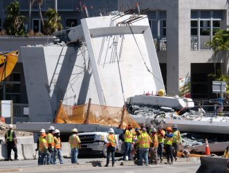 Pedestrian Bridge Collapse Over Southwest 8th Street in Miami, Florida