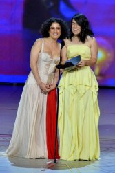 Ilana Glazer and Abbi Jacobson appear onstage during the 70th annual Primetime Emmy Awards in Los Angeles