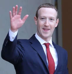 Mark Zuckerberg at the Elysee Palace in Paris