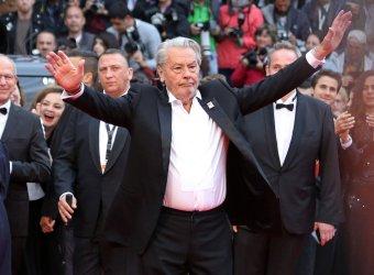 Alain Delon attends the Cannes Film Festival
