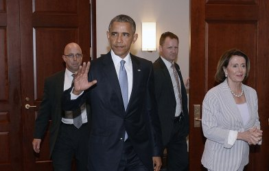 President Obama Meets with House Democrats to Discuss His Trade Agenda in Washington