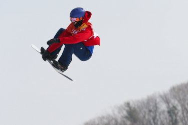 Great Britan's Morgan in slopestyle at Pyeongchang 2018 Winter Olympics