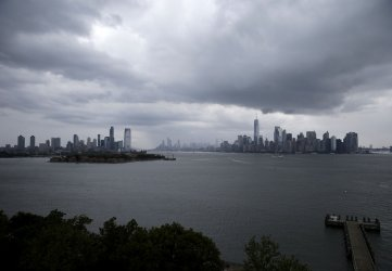 Storm Clouds and Rain in New York City