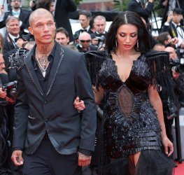 Jeremy Meeks and Andreea Sasu attend the Cannes Film Festival