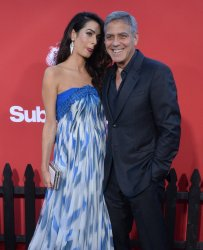 """George Clooney and Amal Clooney attend the """"Suburbicon"""" premiere in Los Angeles"""