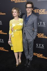 """Kyra Sedgwick and Kevin Bacon attend the premiere of """"The Edge of Seventeen"""" in Los Angeles"""