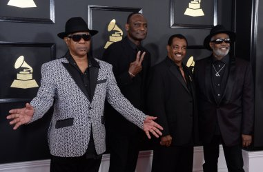 Kool & The Gang arrive for the 59th annual Grammy Awards in Los Angeles
