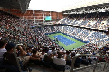 New Armstrong Stadium at the US Open in New York