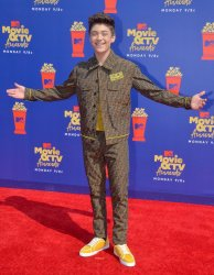 Asher Angel attends the MTV Movie & TV Awards in Santa Monica, California