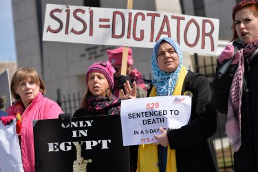 Egyptian Embassy Protest Washingon, DC