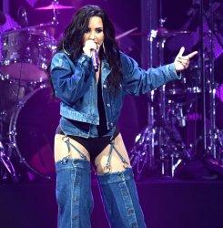 Demi Lovato At Y100's Jingle Ball In Sunrise Florida