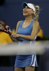 Kournikova and Hingis take on Wilande and Cash in doubles exhibition match at the U.S. Open in New York