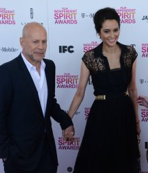 Bruce Willis and Emma Heming attend the 28th annual Film Independent Spirit Awards in Santa Monica, California