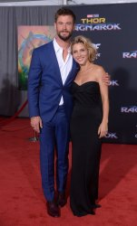 """Chris Hemsworth and Elsa Pataky attend the """"Thor: Ragnarok"""" premiere in Los Angeles"""