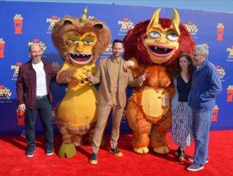 Andrew Goldberg, Nick Kroll, Jennifer Flackett and Mark Levin attend the MTV Movie & TV Awards in Santa Monica, California