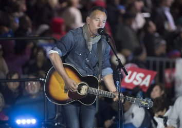Bruce Springsteen performs at a Hillary Clinton rally in Philadelphia