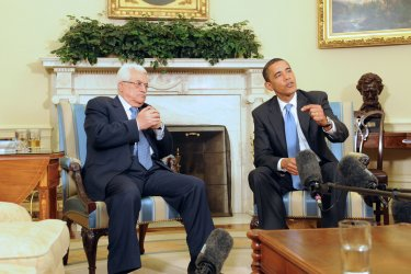 President Obama meets with President of the Palestinian Authority Mahmoud Abbas in Washington