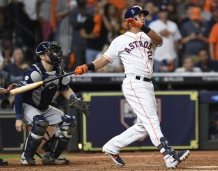 Astros Brantley homers in ALDS game five in Houston