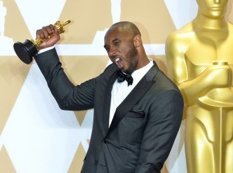 Kobe Bryant wins Oscar for Best Animated Short Film at the 90th annual Academy Awards in Hollywood.