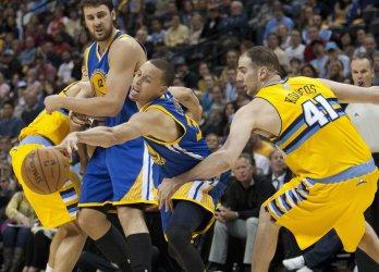 NBA First Round Playoffs Game One Golden State Warriors vs Denver Nuggets in Denver