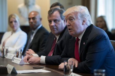 US President Donald J. Trump hosts an opioid and drug abuse listening session